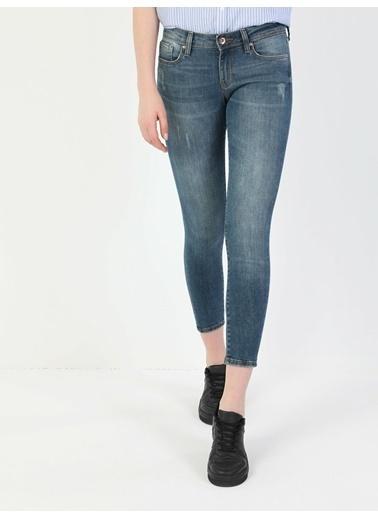 Colin's 757 Sally Süper Dar Kesim Süper Düşük Bel Süper Dar Paça Kadın Jean Pantolon Renkli